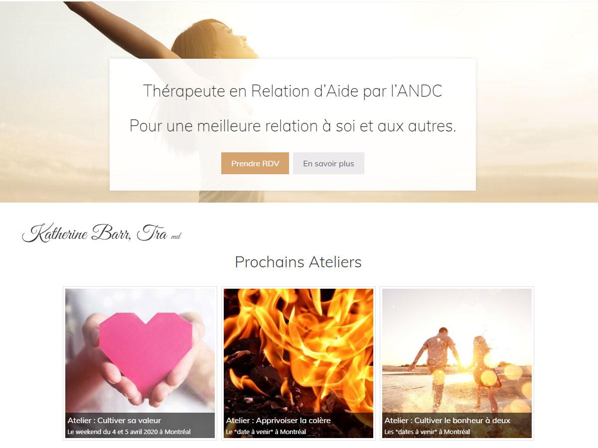 Katherine Barr Thérapeute en Relation d'Aide par l'ANDC