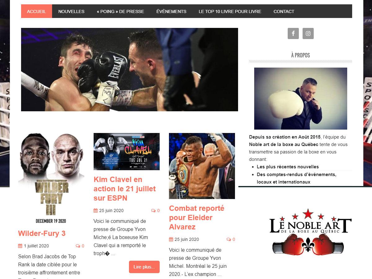 Le Noble art de la boxe-Chroniques-Résultats-Classement-Tout sur la boxe au Québec