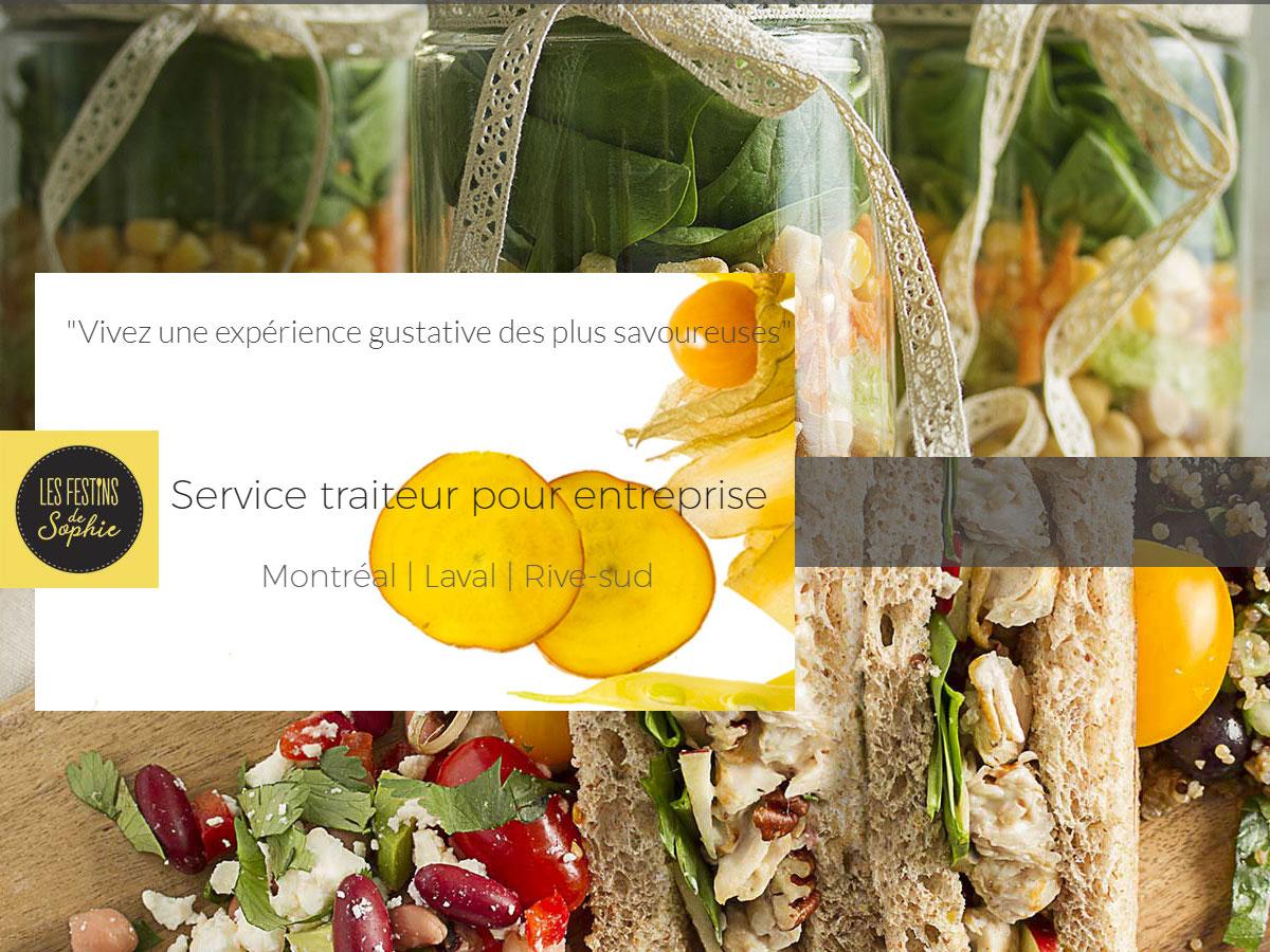 Les festins de Sophie – Service traiteur pour les entreprises-Montréal-Laval-Rive-sud