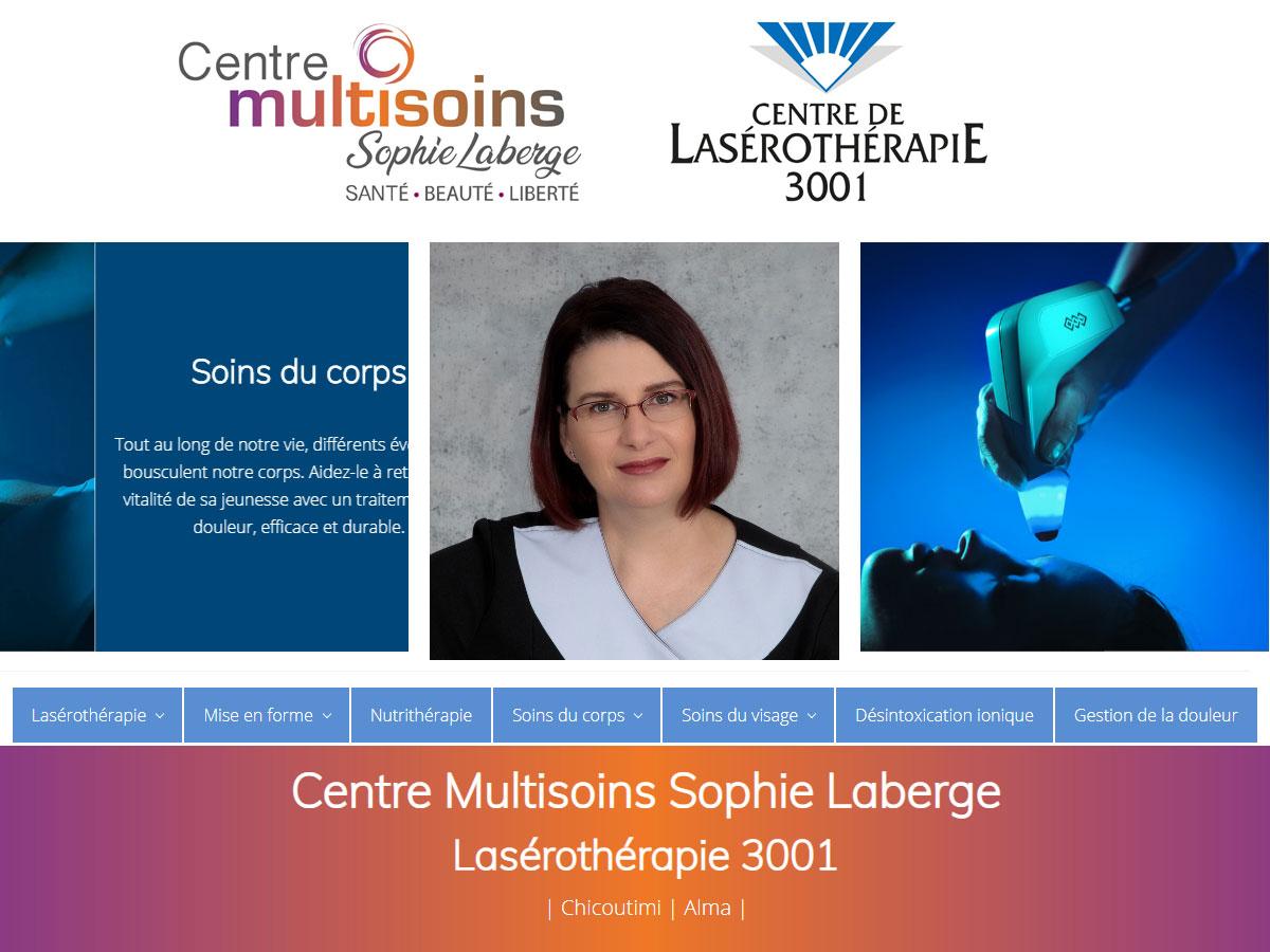 Centre Multisoins Sophie Laberge-Lasérothérapie 3001-Chicoutimi-Québec